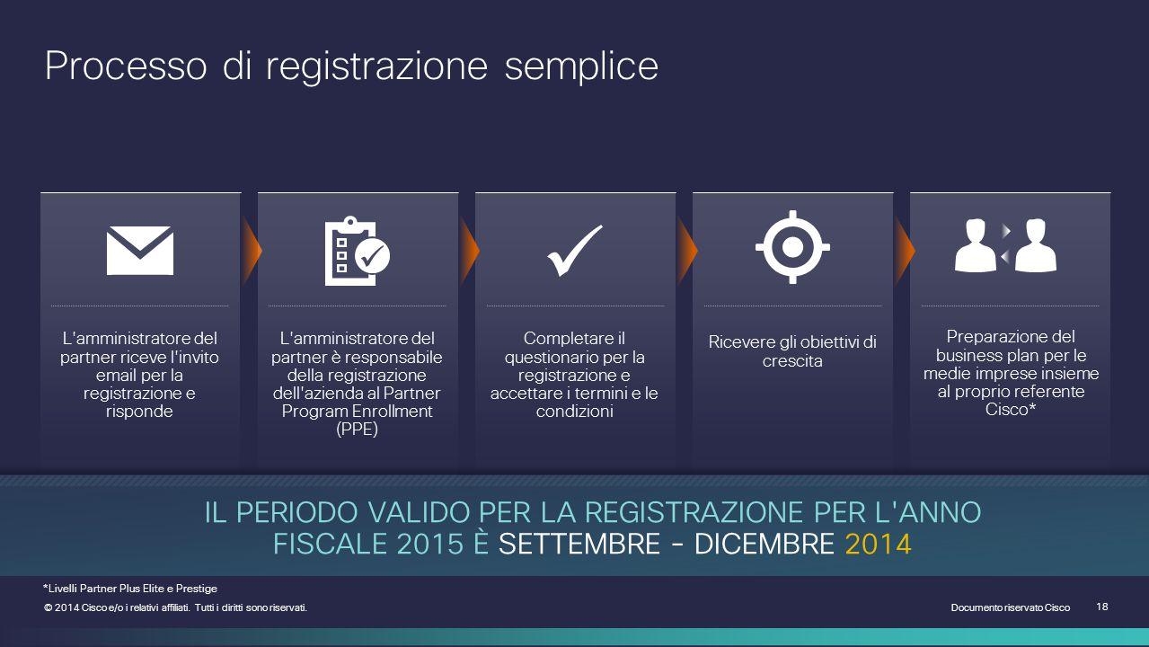Documento riservato Cisco 18 © 2014 Cisco e/o i relativi affiliati.