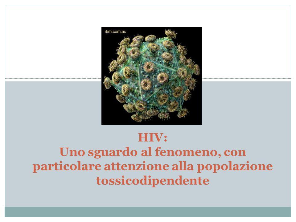 HIV: Uno sguardo al fenomeno, con particolare attenzione alla popolazione tossicodipendente