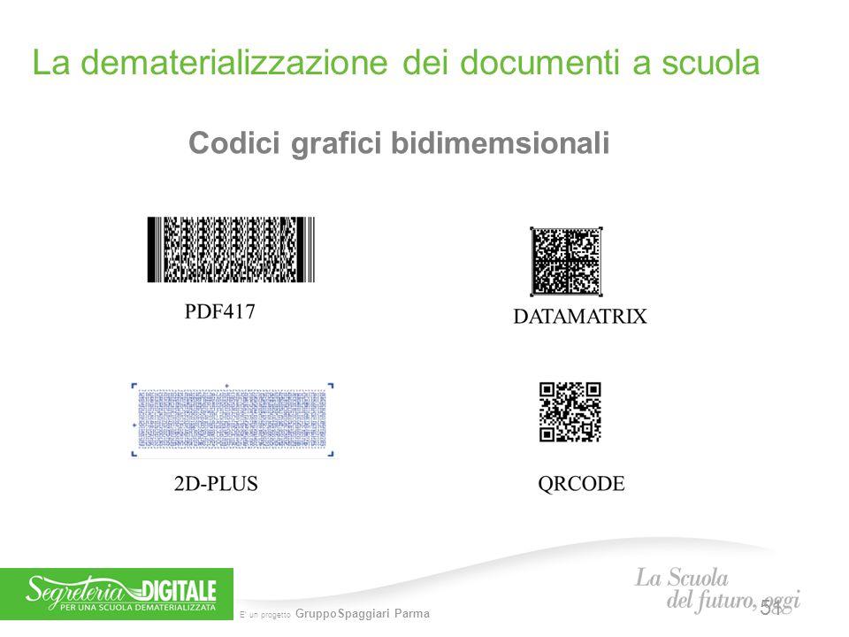 E' un progetto GruppoSpaggiari Parma Codici grafici bidimemsionali La dematerializzazione dei documenti a scuola 51