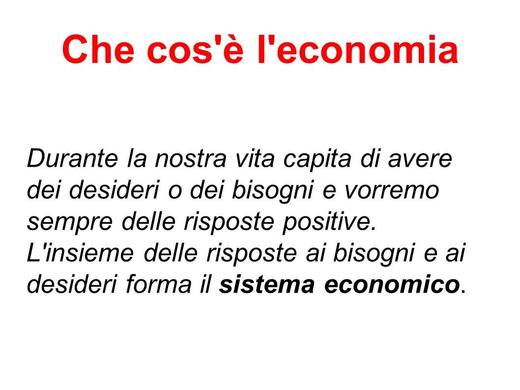 Che cos è l economia Durante la nostra vita capita di avere dei desideri o dei bisogni e vorremo sempre delle risposte positive.