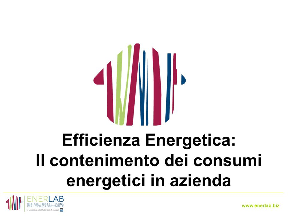 www.enerlab.biz Efficienza Energetica: Il contenimento dei consumi energetici in azienda