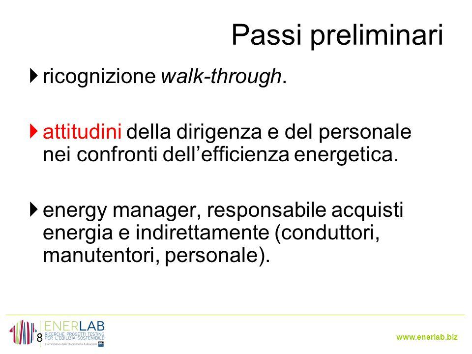 www.enerlab.biz Passi preliminari 8  ricognizione walk-through.