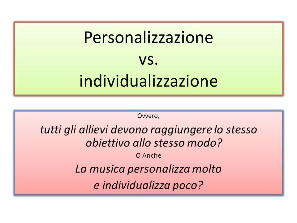 Personalizzazione vs.