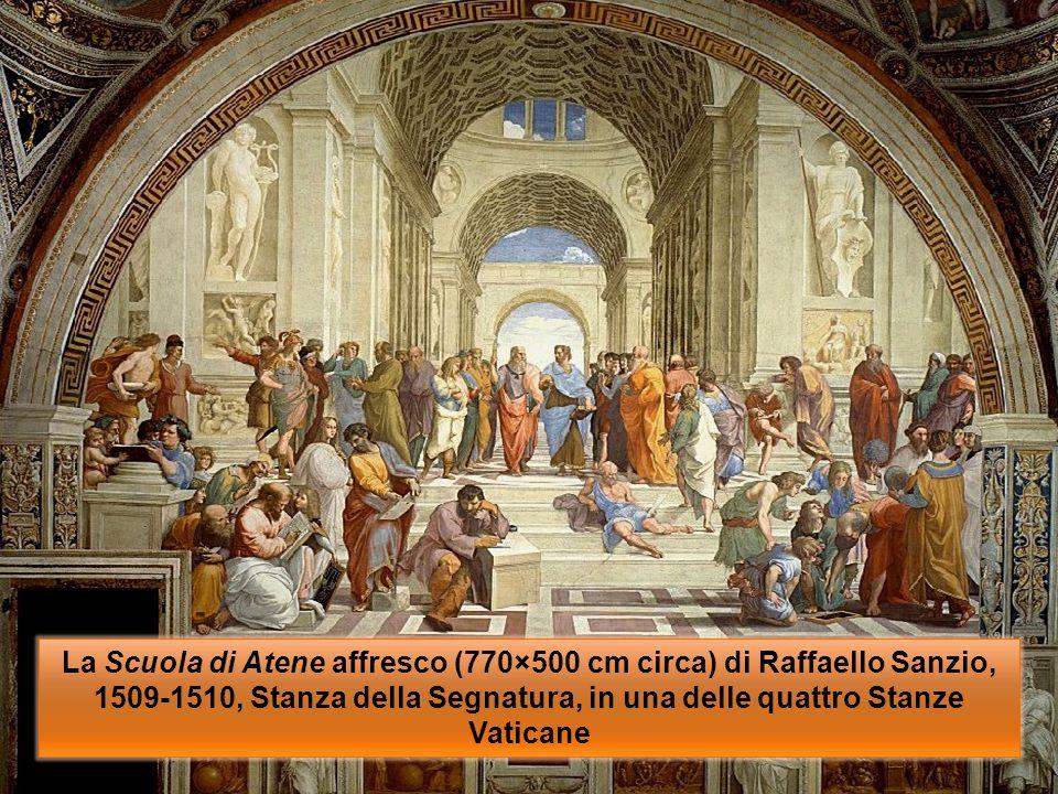 GRAZIE PER L'ASCOLTO E…… La Scuola di Atene affresco (770×500 cm circa) di Raffaello Sanzio, 1509-1510, Stanza della Segnatura, in una delle quattro S
