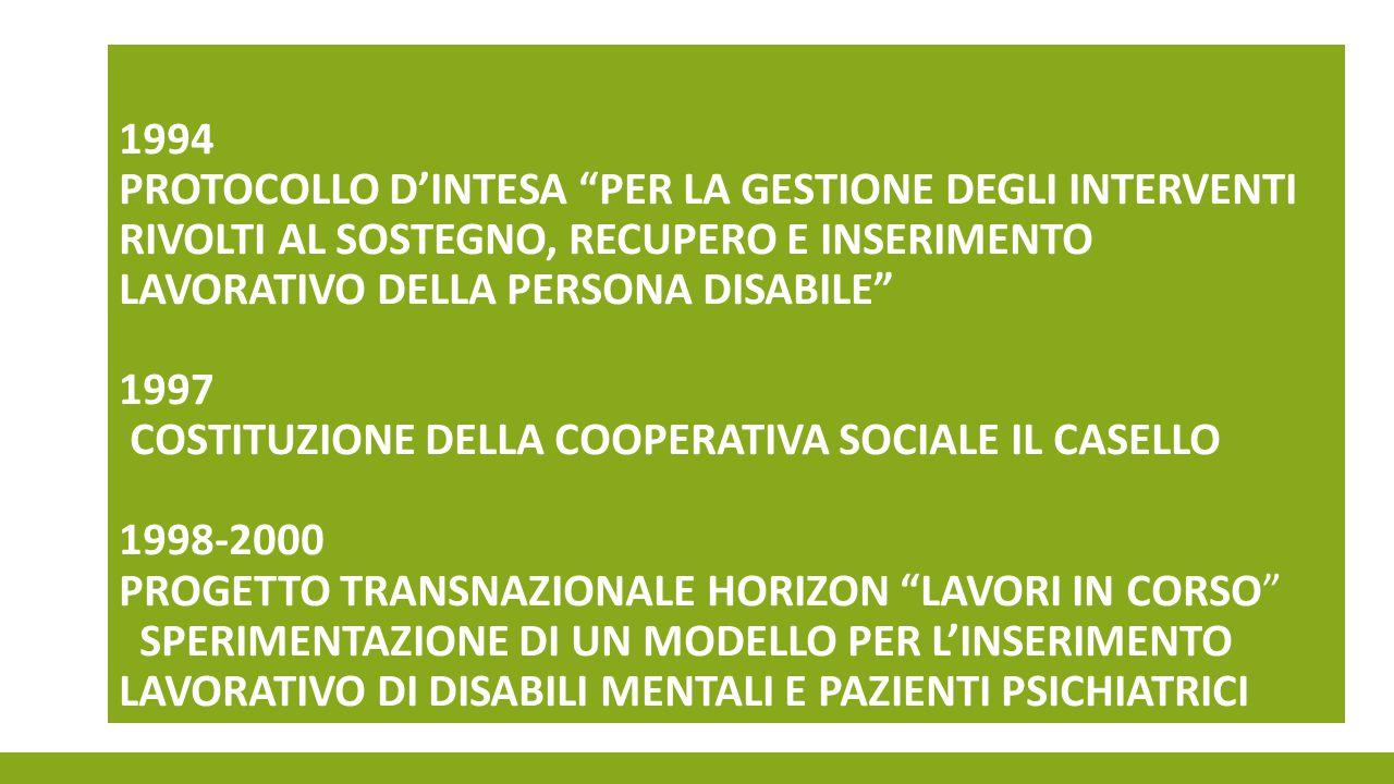 ORGANISMI FORMATIVI IAL Liguria Isforcoop COOPERATIVE SOCIALI ED ASSOCIAZIONI Cooperarci Coop.