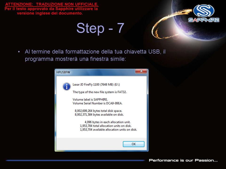 Copia tutto il contenuto dell'archivio fornito da Sapphire all'interno della chiavetta USB così formattata ed usala per avviare il tuo computer in modalità DOS nativa Step - 8
