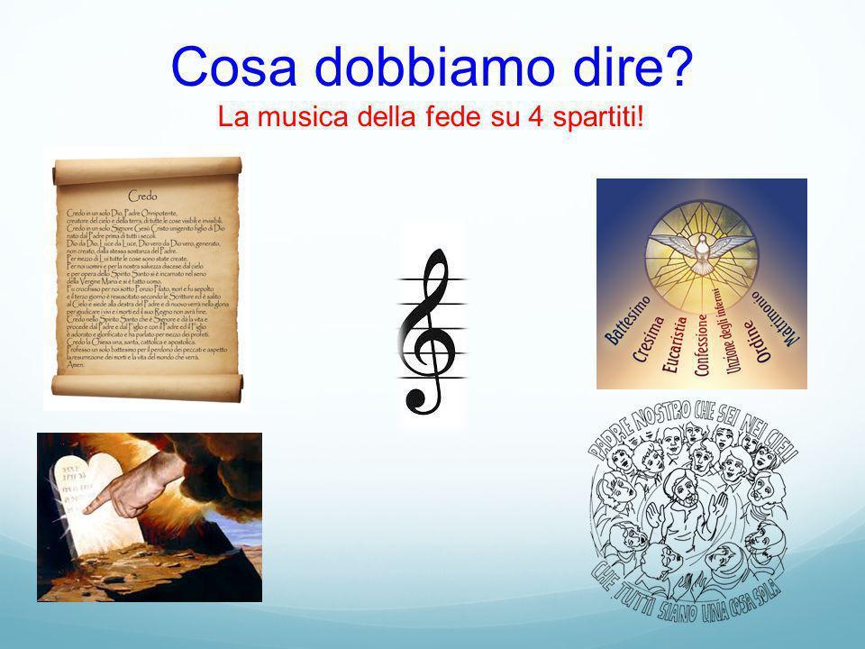 Cosa dobbiamo dire? La musica della fede su 4 spartiti!
