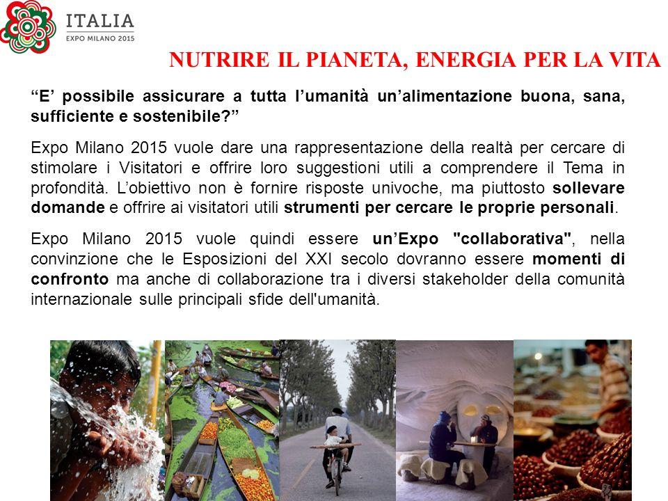 """""""E' possibile assicurare a tutta l'umanità un'alimentazione buona, sana, sufficiente e sostenibile?"""" Expo Milano 2015 vuole dare una rappresentazione"""