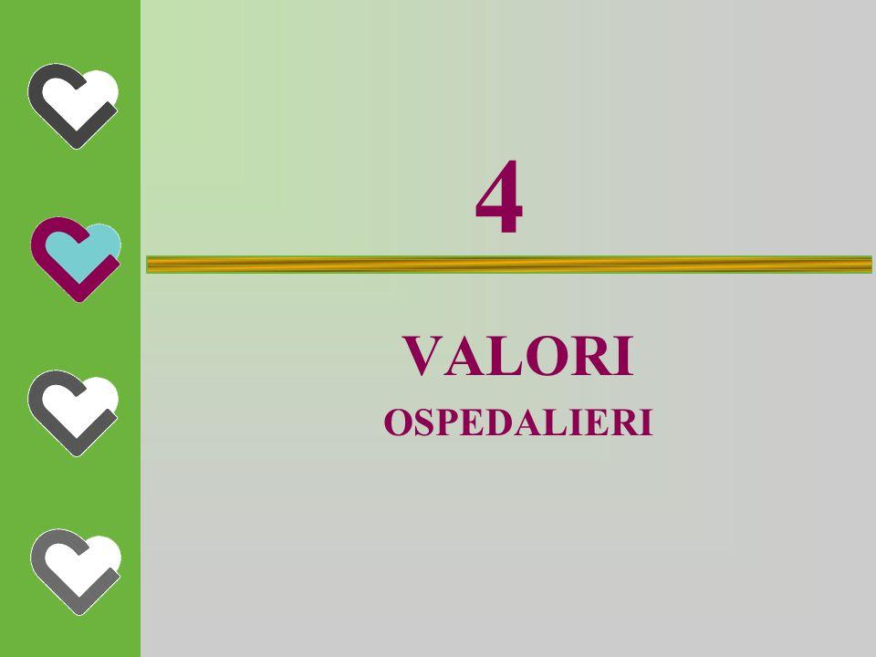 4 VALORI OSPEDALIERI