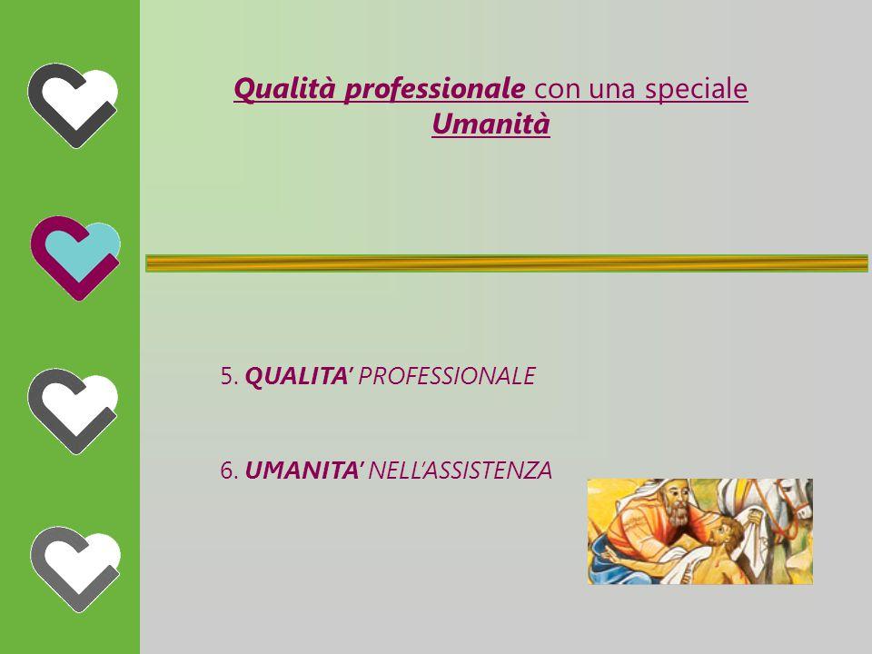 Qualità professionale con una speciale Umanità 5. QUALITA' PROFESSIONALE 6.