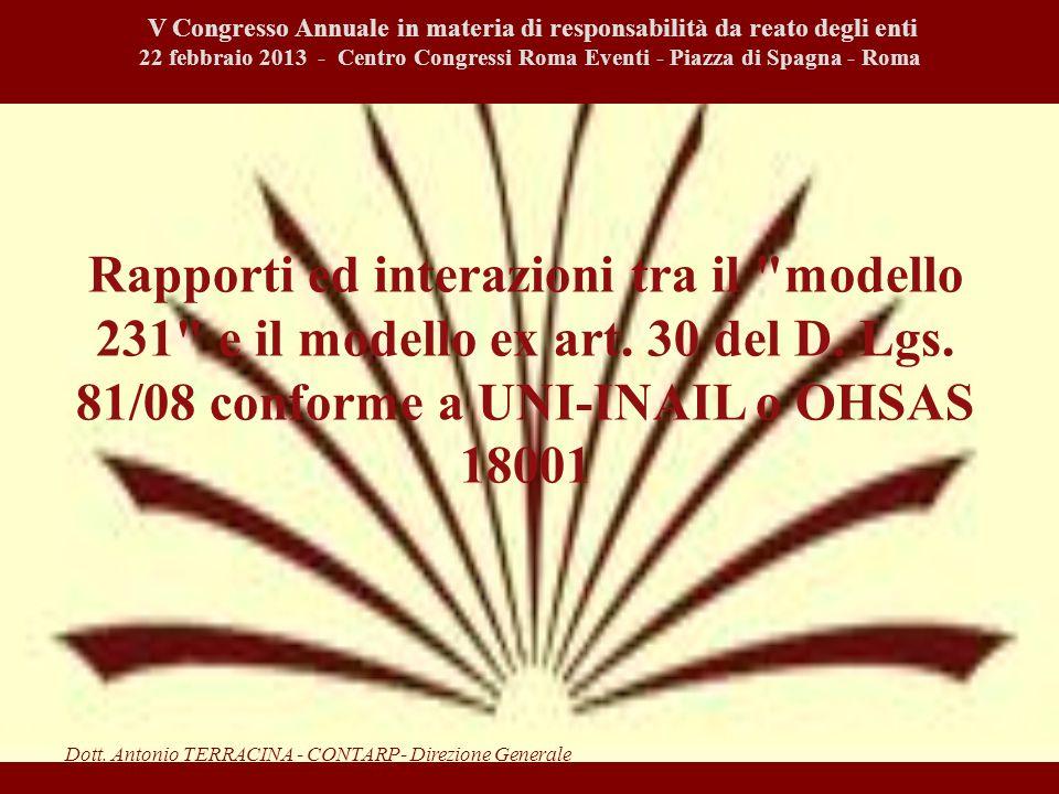 Rapporti ed interazioni tra il modello 231 e il modello ex art.