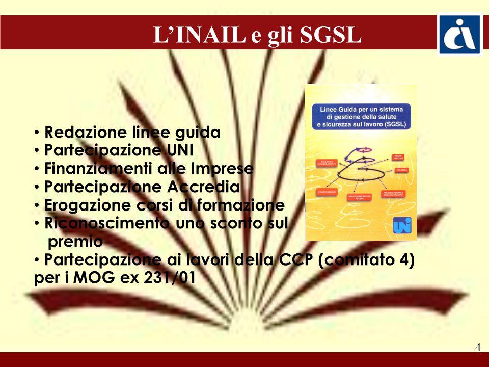5 La SSL nel D.Lgs. 231/01 (art. 300 del D. Lgs.