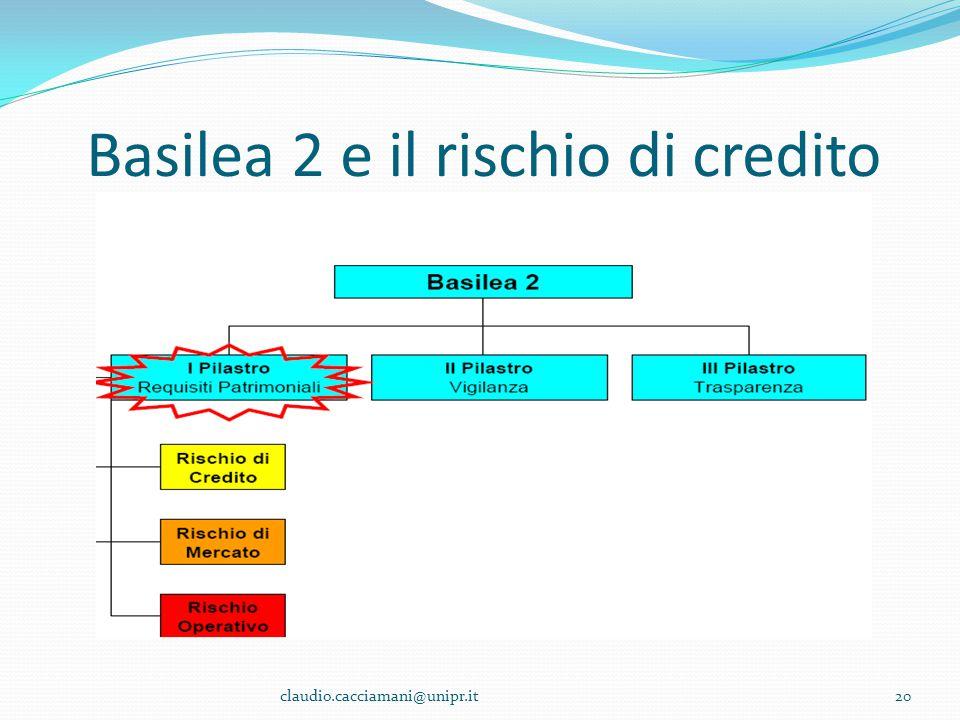 Basilea 2 e il rischio di credito 20claudio.cacciamani@unipr.it