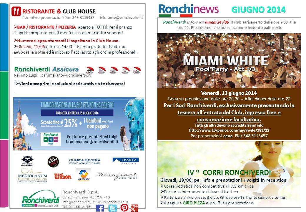 Ronchiverdi S.p.A.Corso Moncalieri 466/16 - TO info@ronchiverdi.iit - www.ronchiverdi.it Tel.