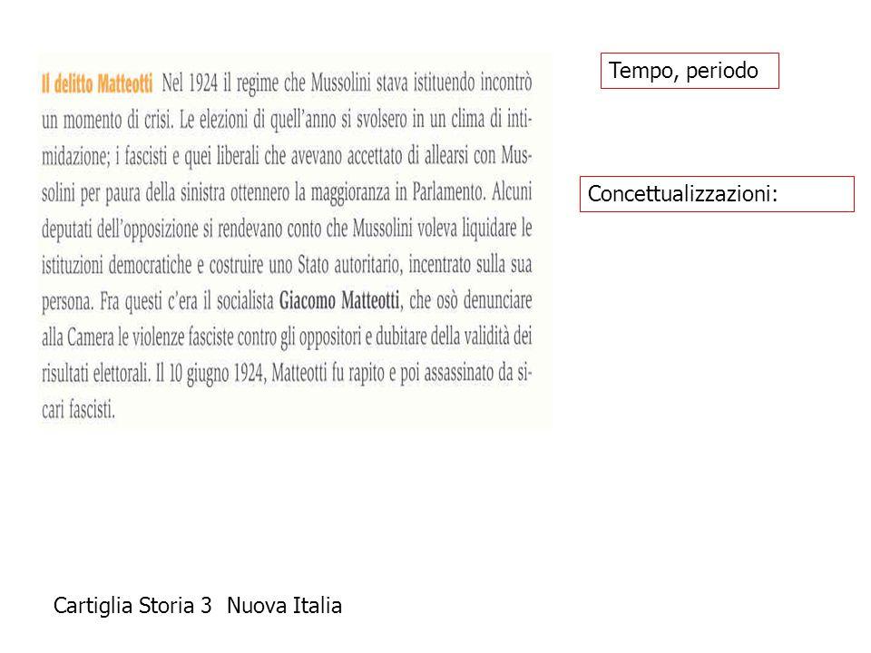 Cartiglia Storia 3 Nuova Italia Concettualizzazioni: Tempo, periodo