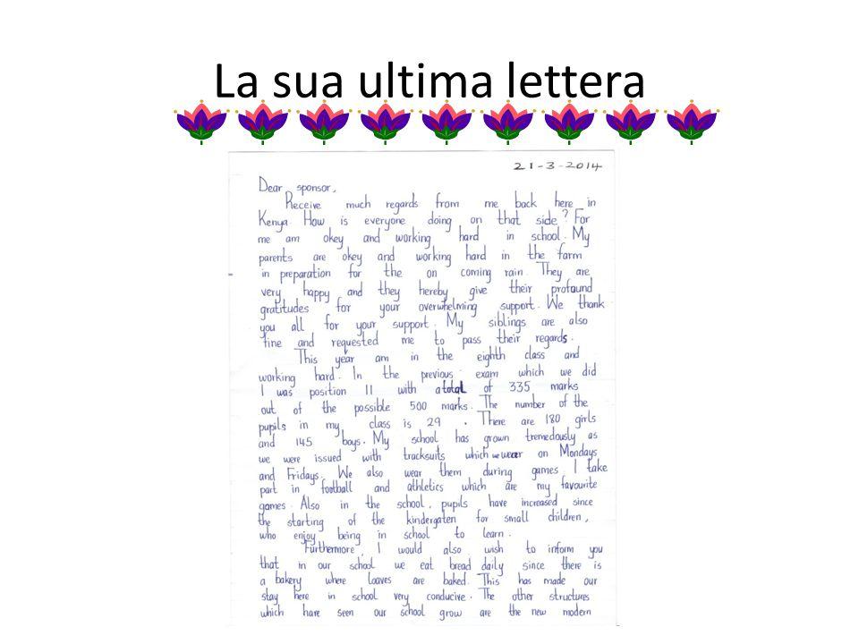 La sua ultima lettera
