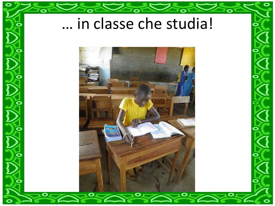 … in classe che studia!
