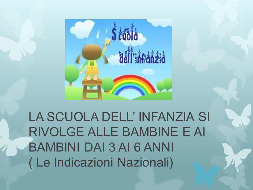 Si pone la finalità di promuovere nei bambini lo sviluppo: e li avvia alla cittadinanza (Indicazioni nazionali)
