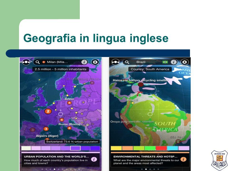 Geografia in lingua inglese