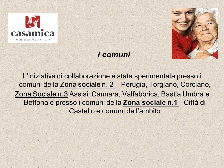 I comuni L'iniziativa di collaborazione è stata sperimentata presso i comuni della Zona sociale n.