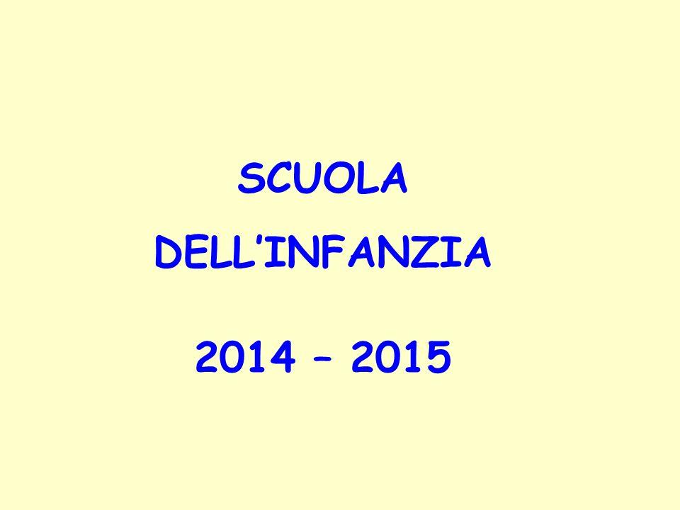 SCUOLA DELL'INFANZIA 2014 – 2015