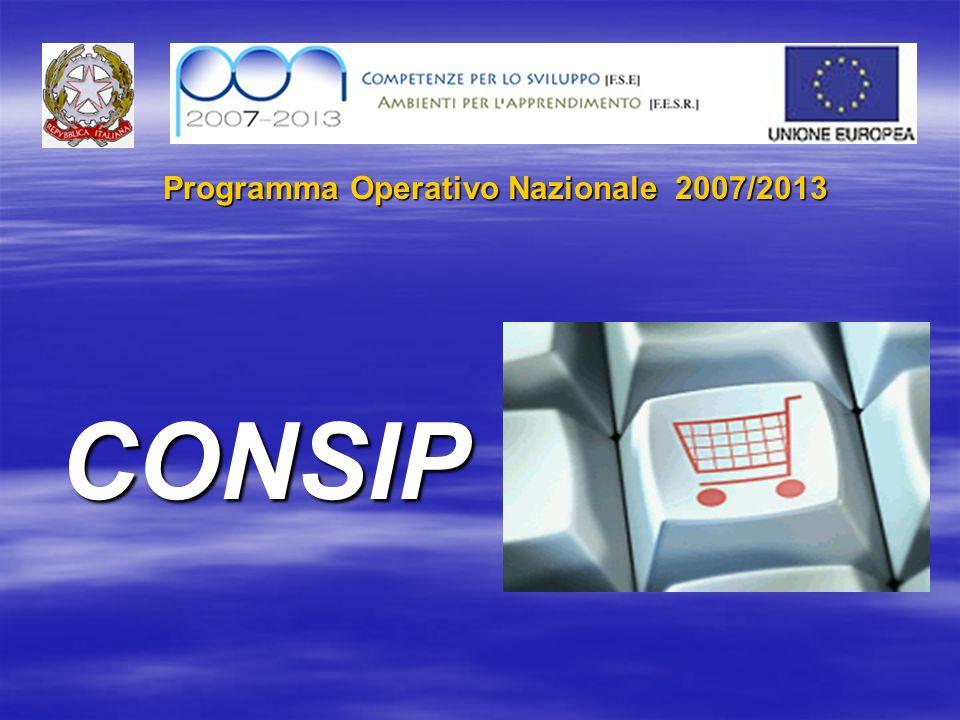 Programma Operativo Nazionale 2007/2013 CONSIP