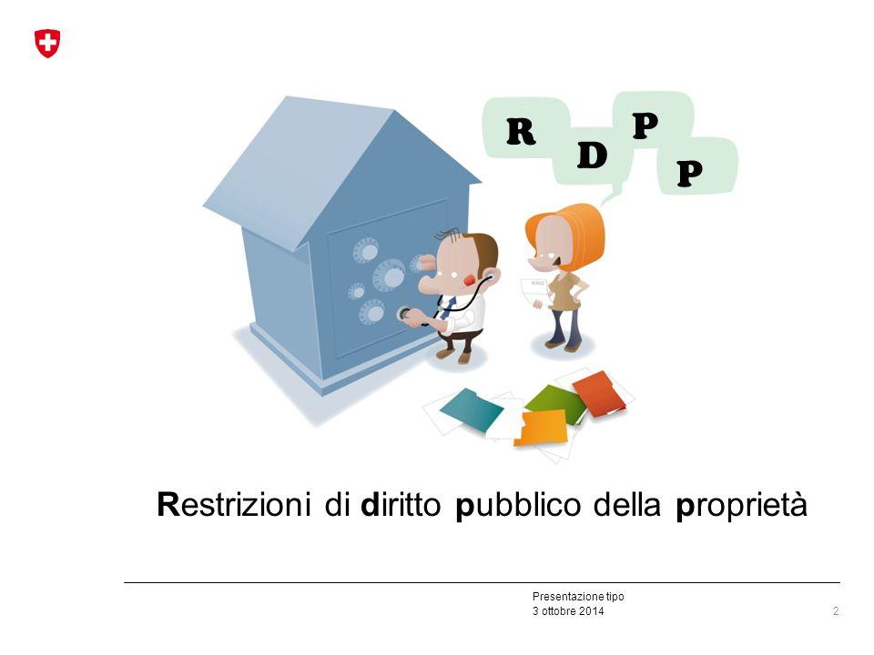 Presentazione tipo 3 ottobre 2014 2 Restrizioni di diritto pubblico della proprietà R D P P