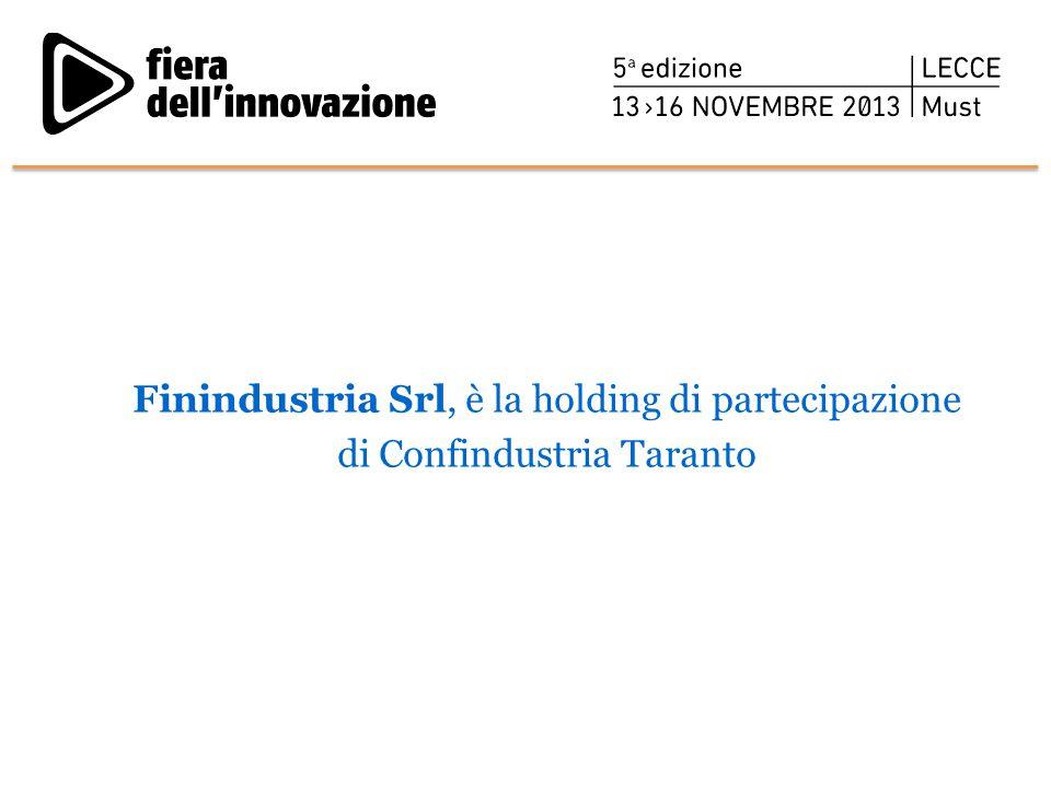 Finindustria Srl, è la holding di partecipazione di Confindustria Taranto