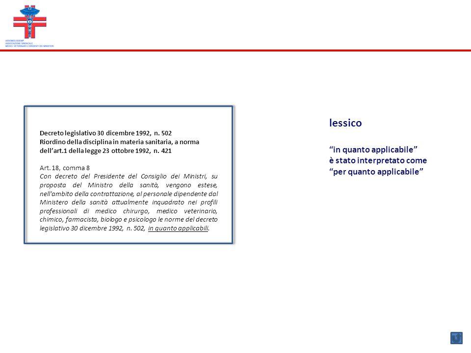 Decreto del Presidente del Consiglio dei Ministri 13 dicembre 1995 Inquadramento del personale di cui all'art 18 comma 8 d.lgs 502/92 nella dirigenza del ruolo sanitario articolata in due livelli Art.