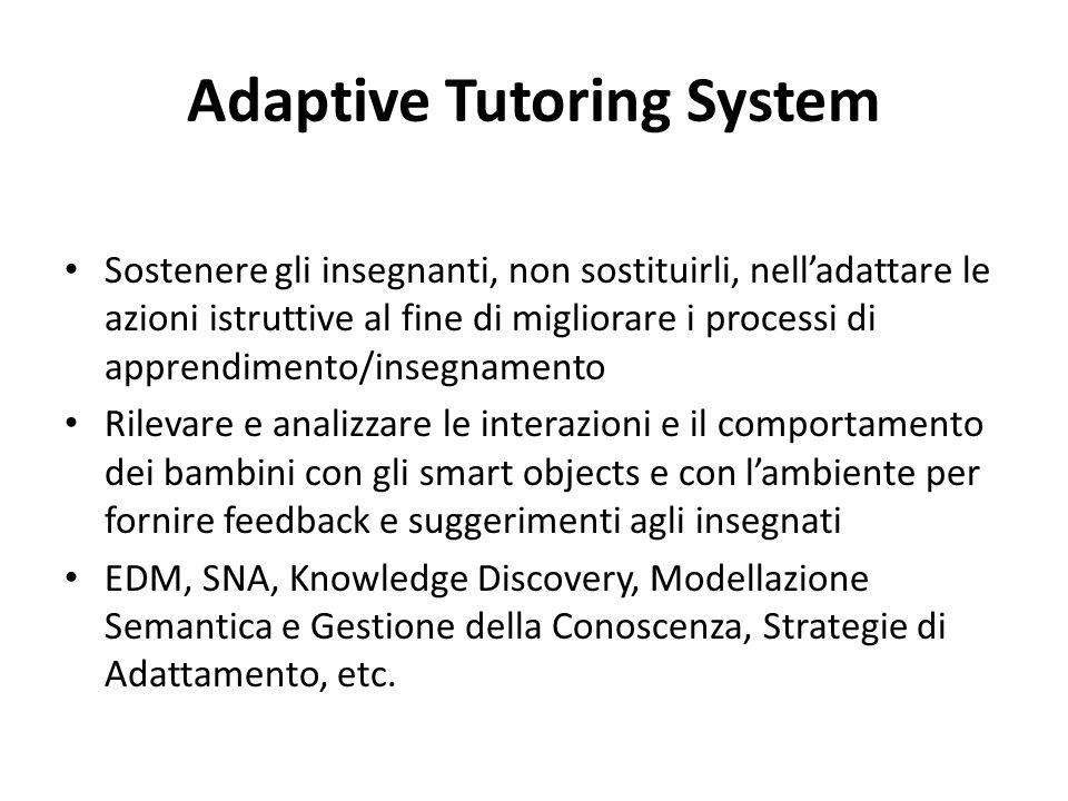 Adaptive Tutoring System Sostenere gli insegnanti, non sostituirli, nell'adattare le azioni istruttive al fine di migliorare i processi di apprendimen