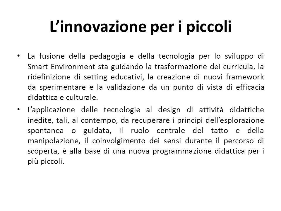 L'innovazione per i piccoli La fusione della pedagogia e della tecnologia per lo sviluppo di Smart Environment sta guidando la trasformazione dei curr