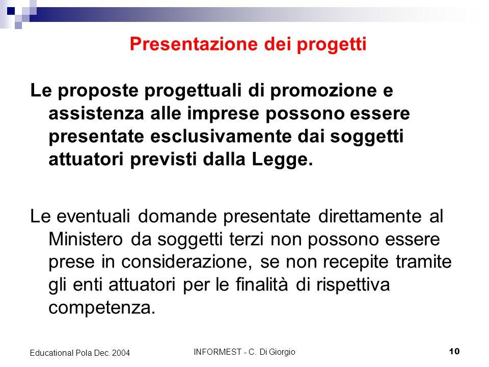 INFORMEST - C. Di Giorgio10 Educational Pola Dec.