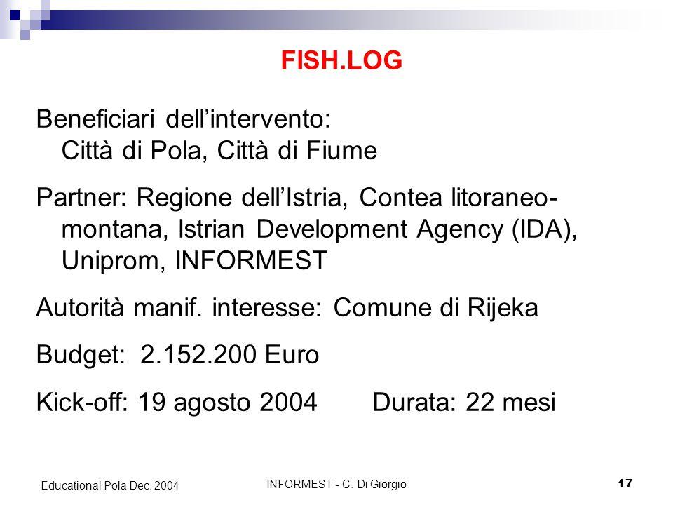 INFORMEST - C. Di Giorgio17 Educational Pola Dec.