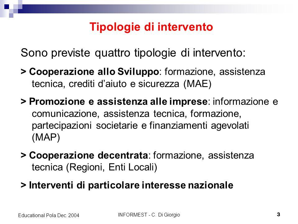 INFORMEST - C.Di Giorgio14 Educational Pola Dec.