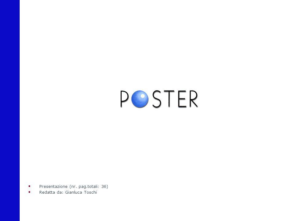  Presentazione (nr. pag.totali: 36)  Redatta da: Gianluca Toschi