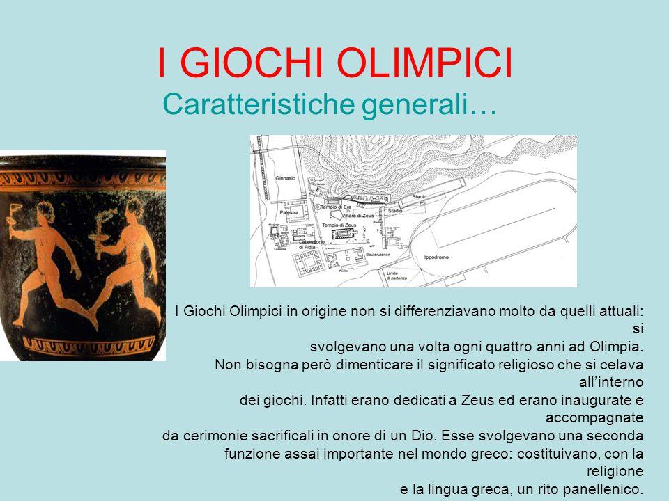 I GIOCHI OLIMPICI Nel mondo antico… Le origini Esistono due storie che narrano l'origine dei giochi olimpici, la prima ha come protagonista Pelope, la