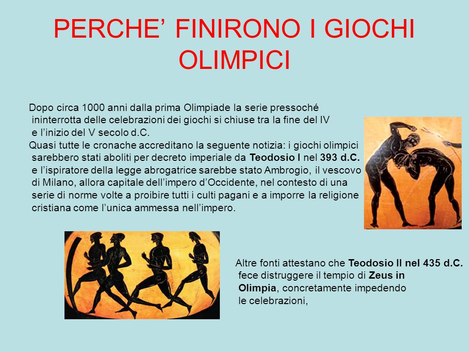 L'IMPORTANZA DEI GIOCHI OLIMPICI NEL MONDO ANTICO Una vittoria riportata a Olimpia era il coronamento di tutta una vita. Fin dall'adolescenza il Greco
