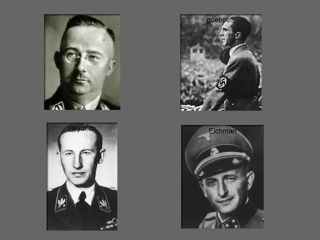 Himmler Heydrich Eichman goebbels