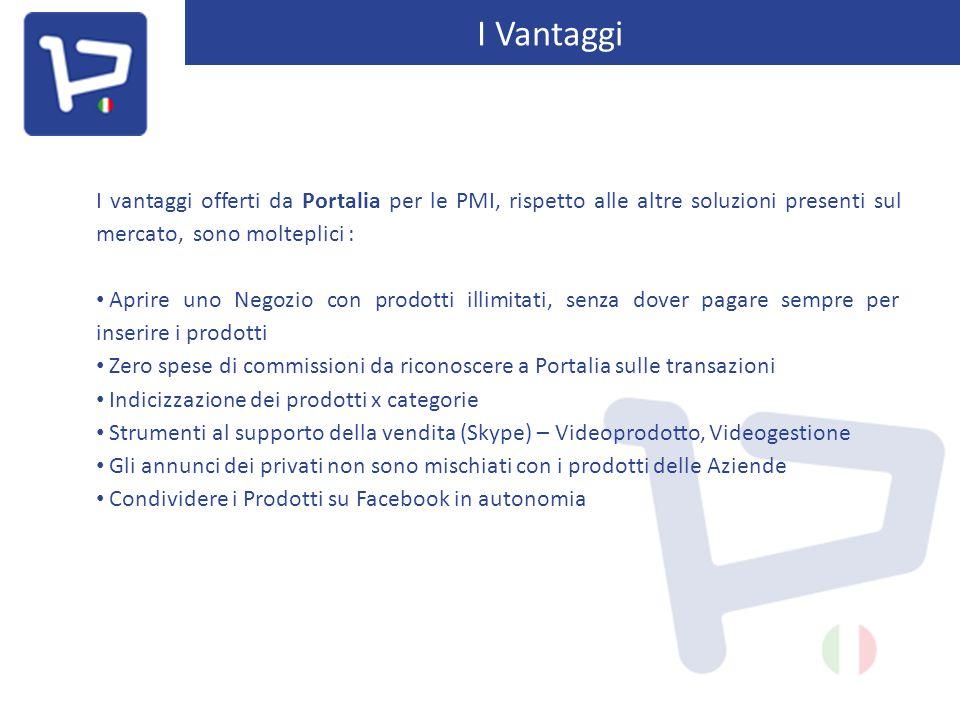 I Vantaggi I vantaggi offerti da Portalia per le PMI, rispetto alle altre soluzioni presenti sul mercato, sono molteplici : Aprire uno Negozio con pro
