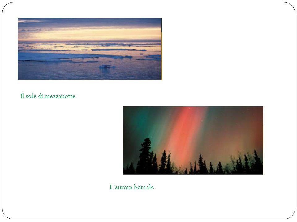 Il sole di mezzanotte L'aurora boreale
