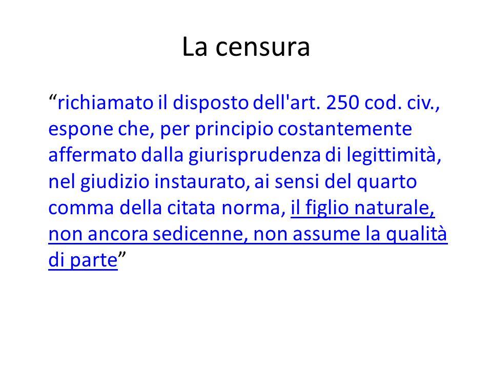 la Corte cost., Sent., 11-03-2011, n.83 Una menzione a parte merita, infine, l art.