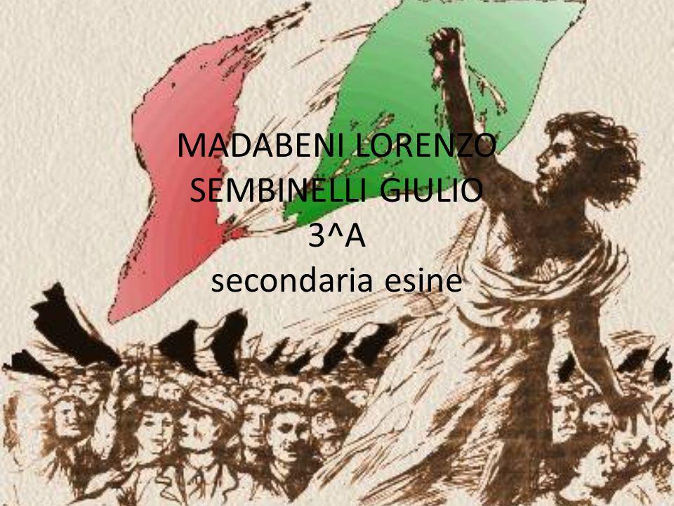 MADABENI LORENZO SEMBINELLI GIULIO 3^A secondaria esine