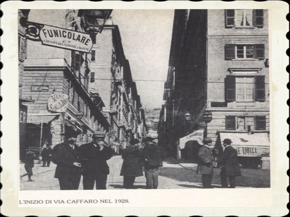 7)Nell'ultimo decennio del secolo l'accesso alla spianata venne reso ancora più comodo con la realizzazione dell'impianto di ascensori che salivano da piazza Portello.