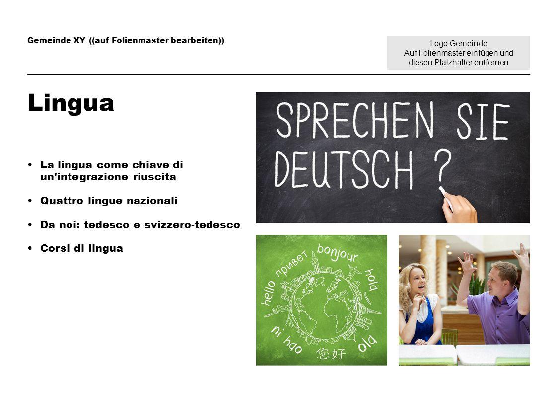 Logo Gemeinde Auf Folienmaster einfügen und diesen Platzhalter entfernen Gemeinde XY ((auf Folienmaster bearbeiten)) Lingua La lingua come chiave di u