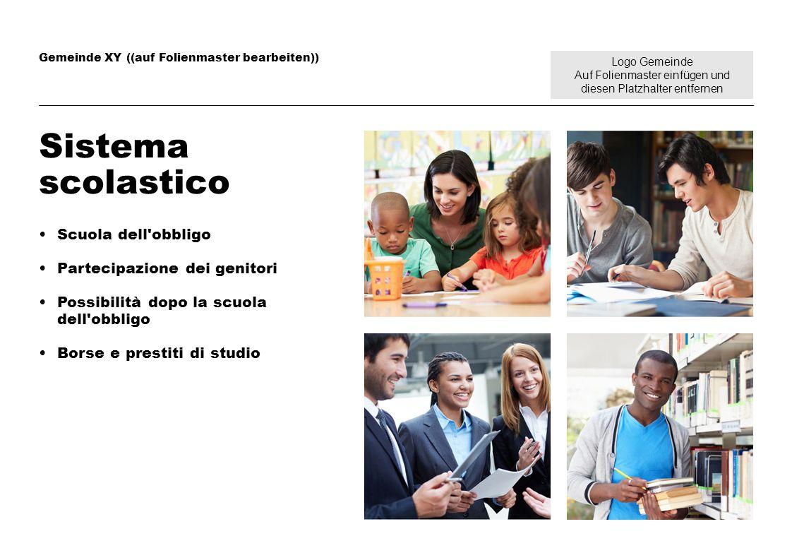 Logo Gemeinde Auf Folienmaster einfügen und diesen Platzhalter entfernen Gemeinde XY ((auf Folienmaster bearbeiten)) Sistema scolastico Scuola dell'ob