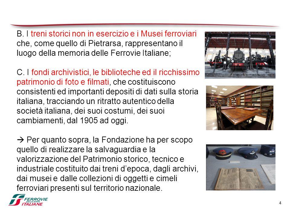 4 B. I treni storici non in esercizio e i Musei ferroviari che, come quello di Pietrarsa, rappresentano il luogo della memoria delle Ferrovie Italiane
