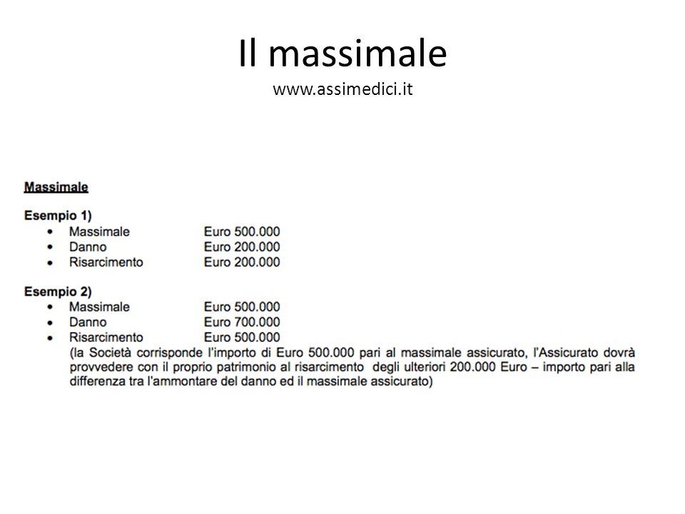 Il massimale www.assimedici.it