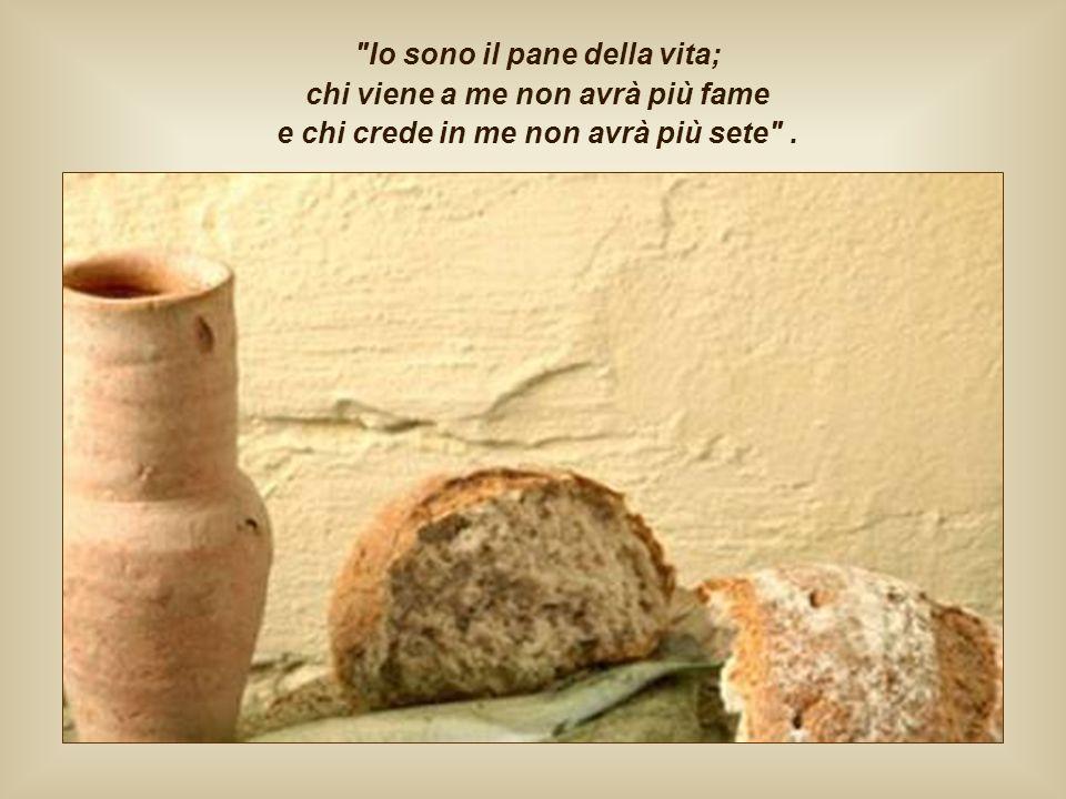 Nutriti di questo pane ogni altra fame non ha più ragione di esistere. Ogni nostro desiderio di amore e di verità è saziato da chi è lo stesso Amore,