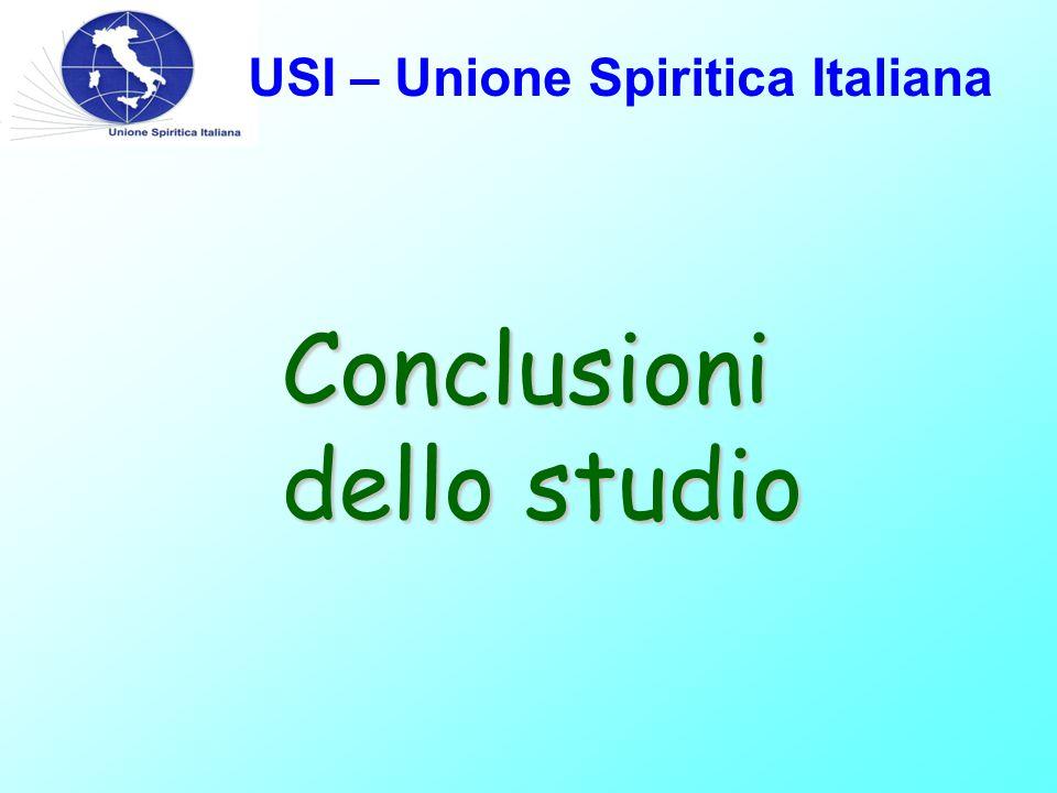USI – Unione Spiritica Italiana Conclusioni dello studio