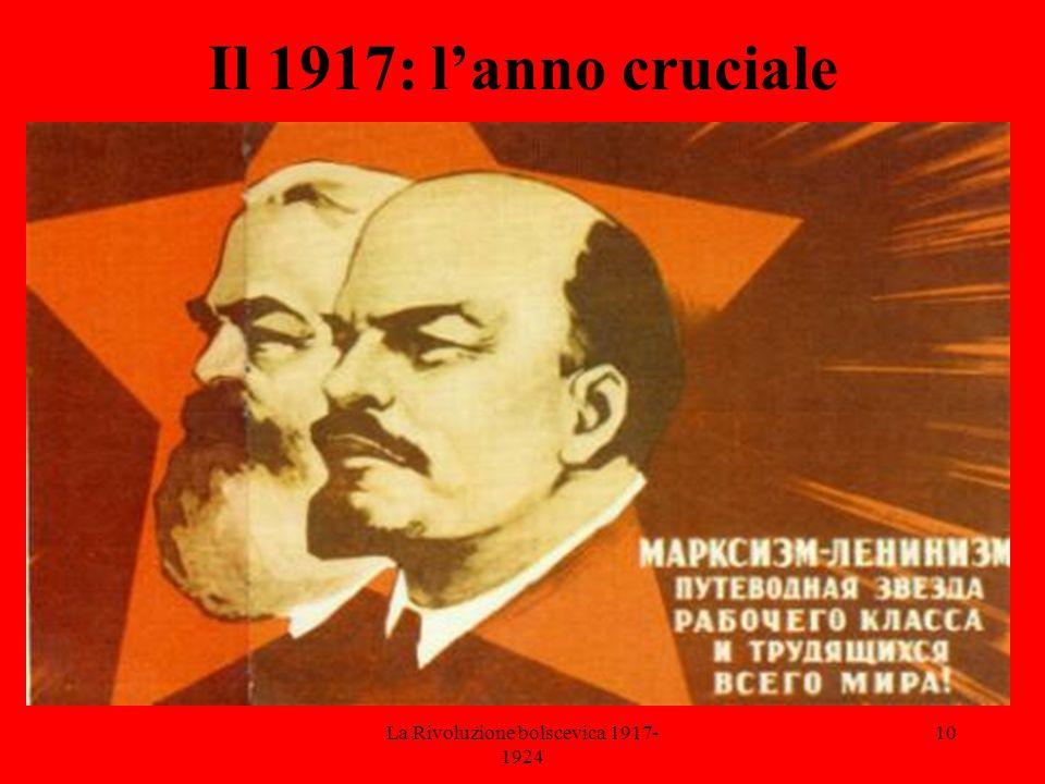 La Rivoluzione bolscevica 1917- 1924 10 Il 1917: l'anno cruciale